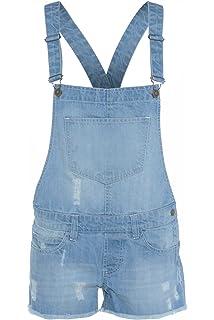 f9085a55a97 Top Fashion s Childrens Unisex Girls Light Wash Denim Short Boys Dungaree  Jumpsuit Age ...