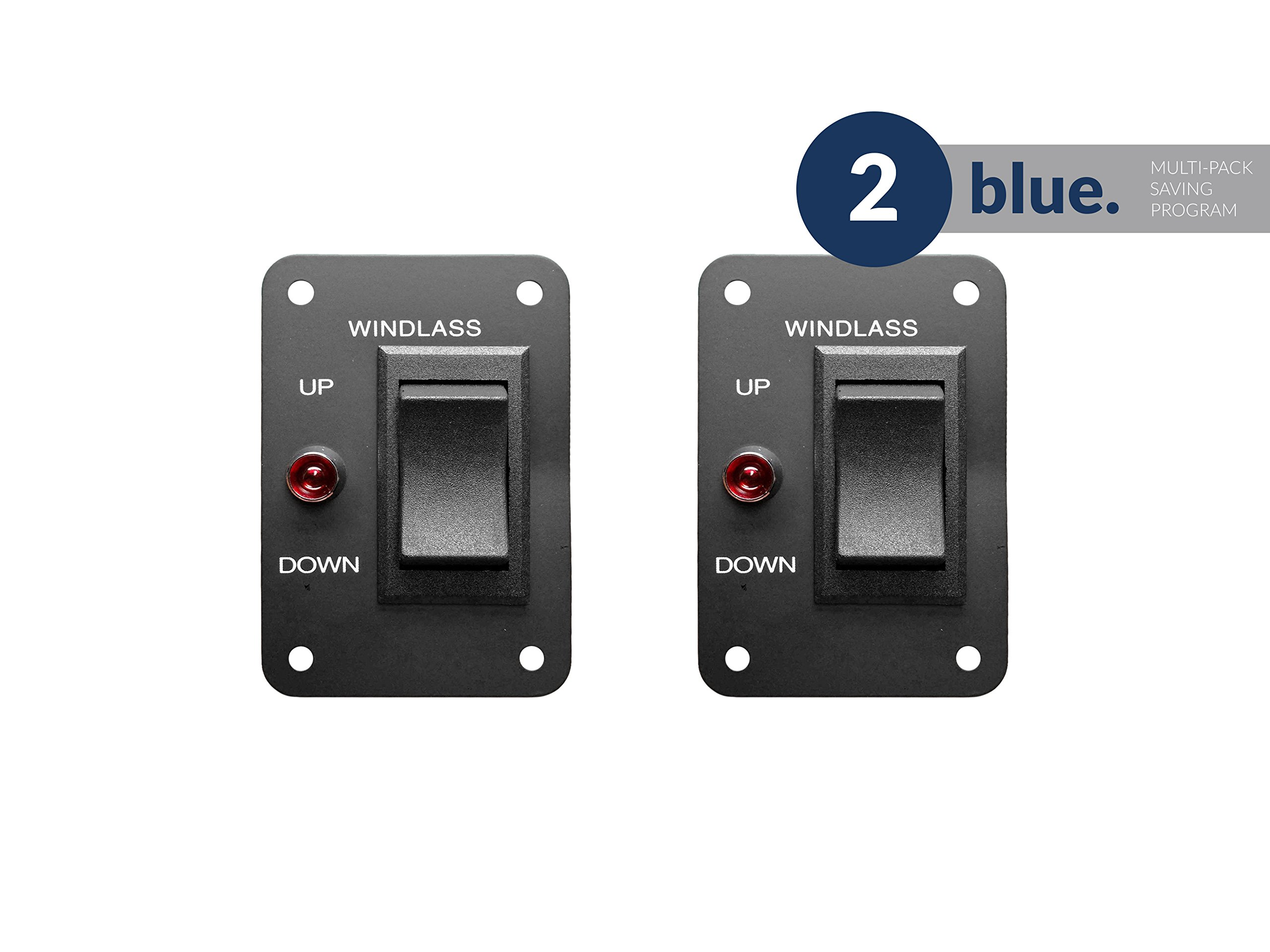 Five Oceans Panel-Mount Windlass Rocker Switch, Pair - BC 3739-M2