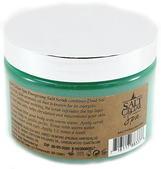8ae7a276b8c Amazon.com : Salt Cellar Relaxing Salt Scrub Lemongrass 18 oz (500g) with  Dead Sea Minerals : Beauty