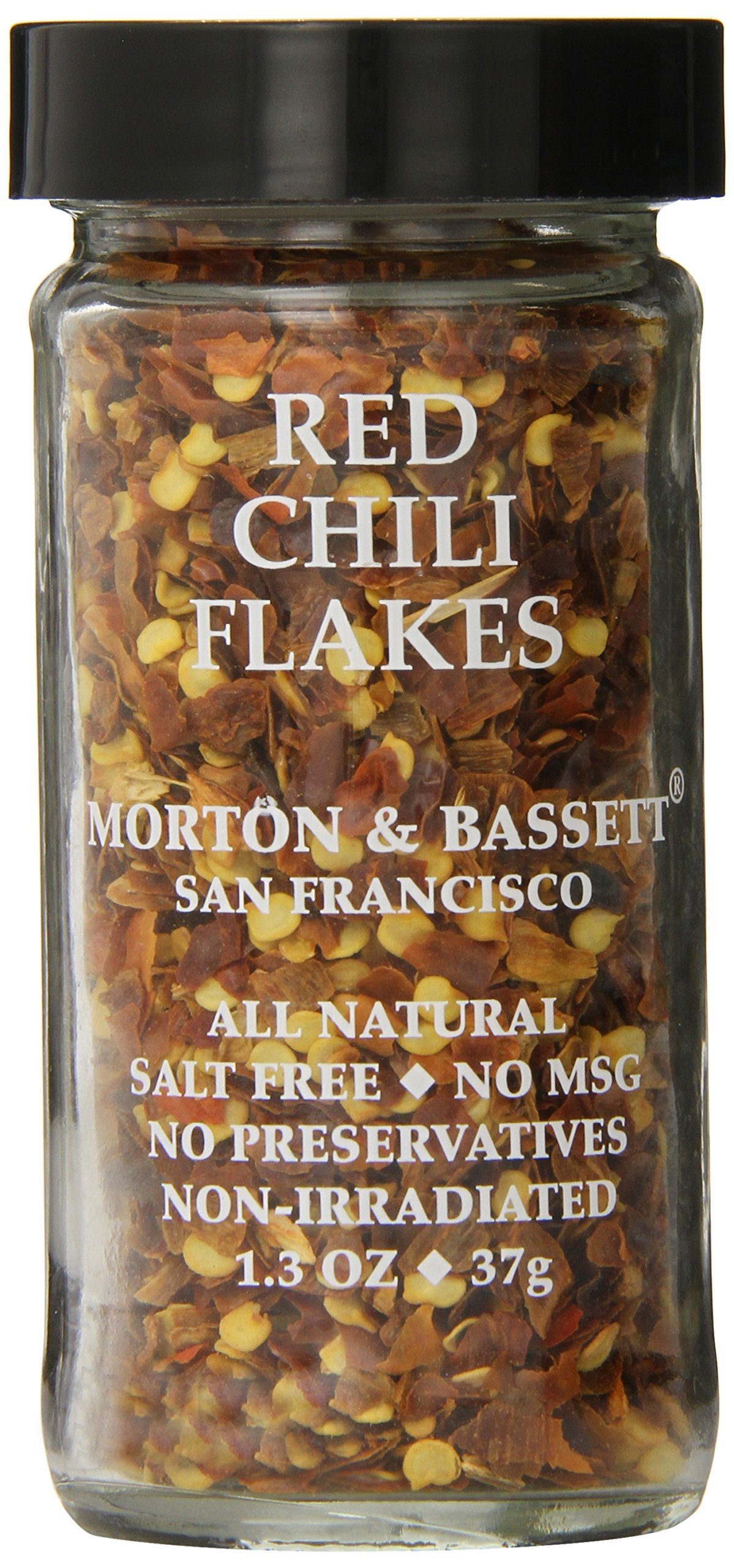 Morton & Basset Spices, Red Chili Flakes, 1.3 Ounce (Pack of 3)