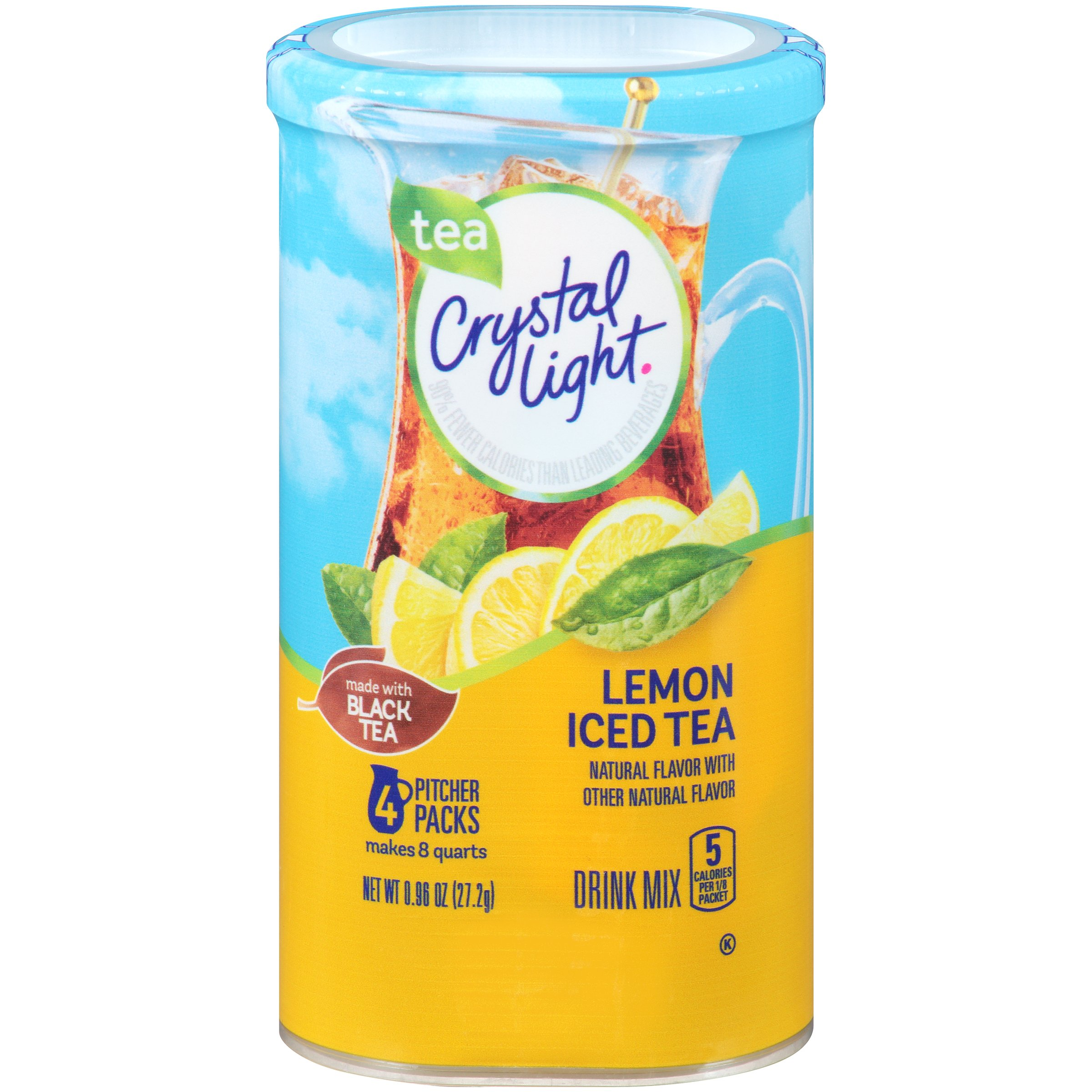 Amazon Com Crystal Light Raspberry Ice Drink Mix 8