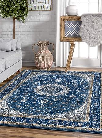 Amazon De Ipek Vorleger Teppich Vintage Damast Persisch