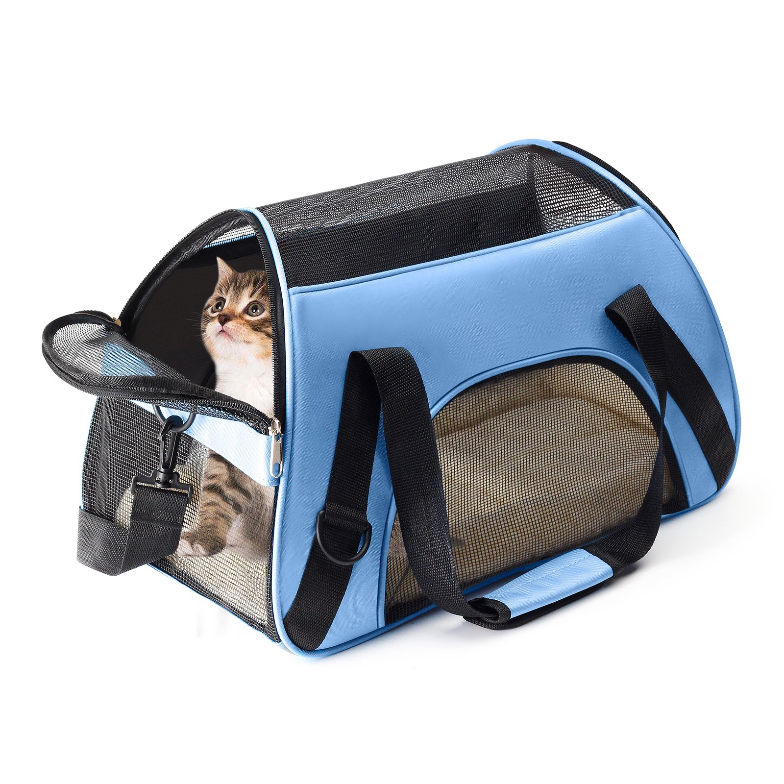 OHPA Soft Sided Portable Pet Travel Carrier Airline Approved Travel Bag Designed for Cats, Dogs Kittens and Puppies