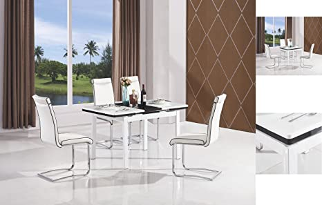 Mesa extensible de comedor con 4 sillas, por 7Star. De madera DM ...