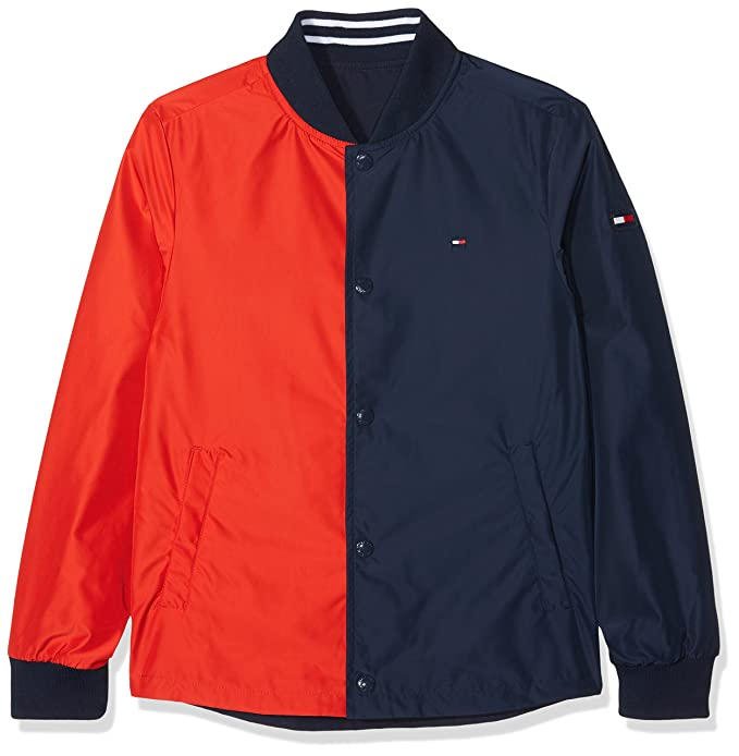 Tommy Hilfiger Boys Reversible Cracker Jacket, Chaqueta para Niños: Amazon.es: Ropa y accesorios