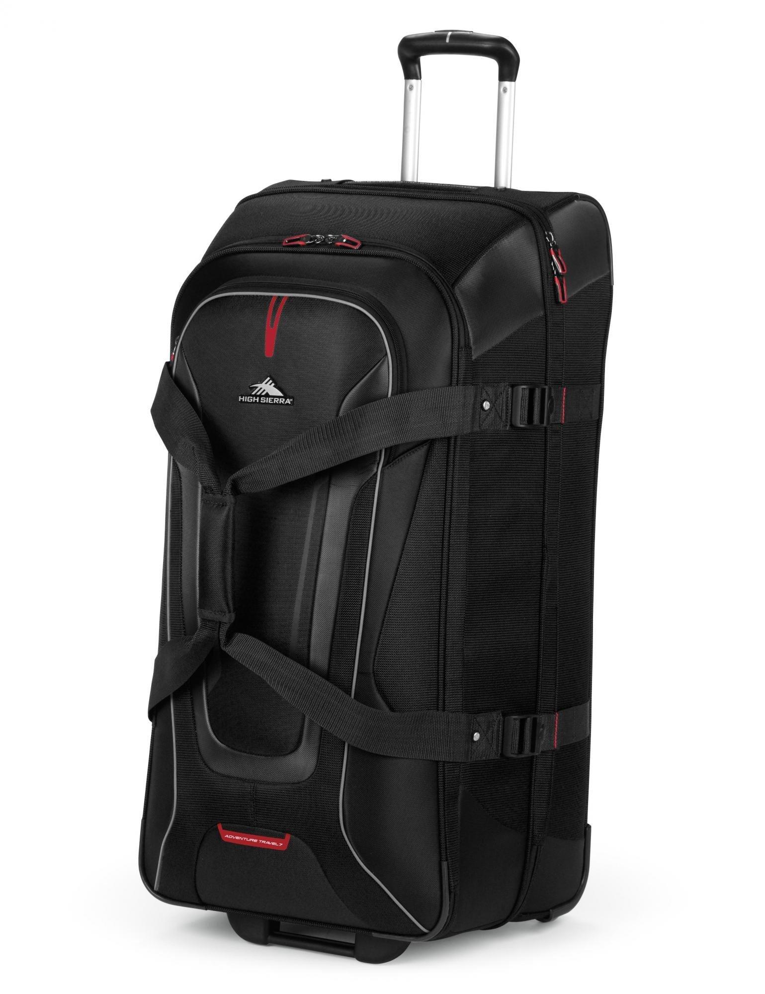 High Sierra AT7 Rolling Upright Duffel Bag (32-Inch, Black/Charcoal/Black)