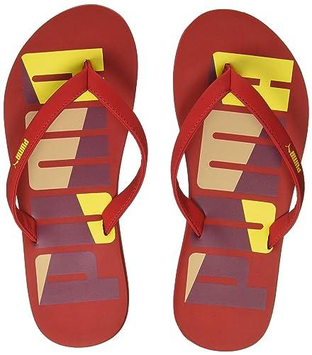 cea113d1f45d8 Puma Women s Pomegranate-Ribbon Red-Vibrant Yellow-Dusty Coral Flip-Flops-