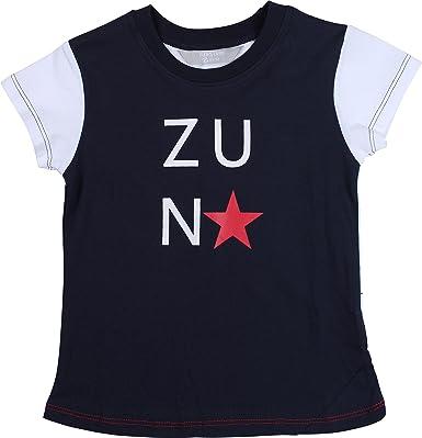 Zunstar Mike - Camisa/Camiseta de náutica para niño, Color Azul Marino/Blanco, Talla UK: Talla 122/128: Amazon.es: Ropa y accesorios