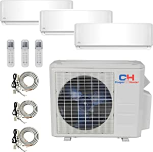 COOPER AND HUNTER 3 Zone Mini Split - 9000 + 9000 + 12000 - Ductless Air Conditioner