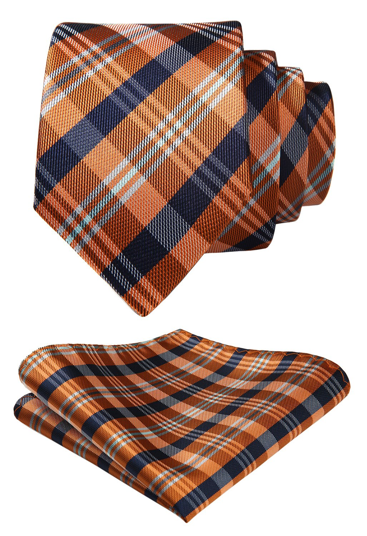 HISDERN Boys' Woven Tie Necktie for Kids Classic Parent-child Tie