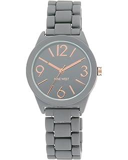 Nine West NW 1812 - Reloj de pulsera de goma para mujer be03dce01ca0d
