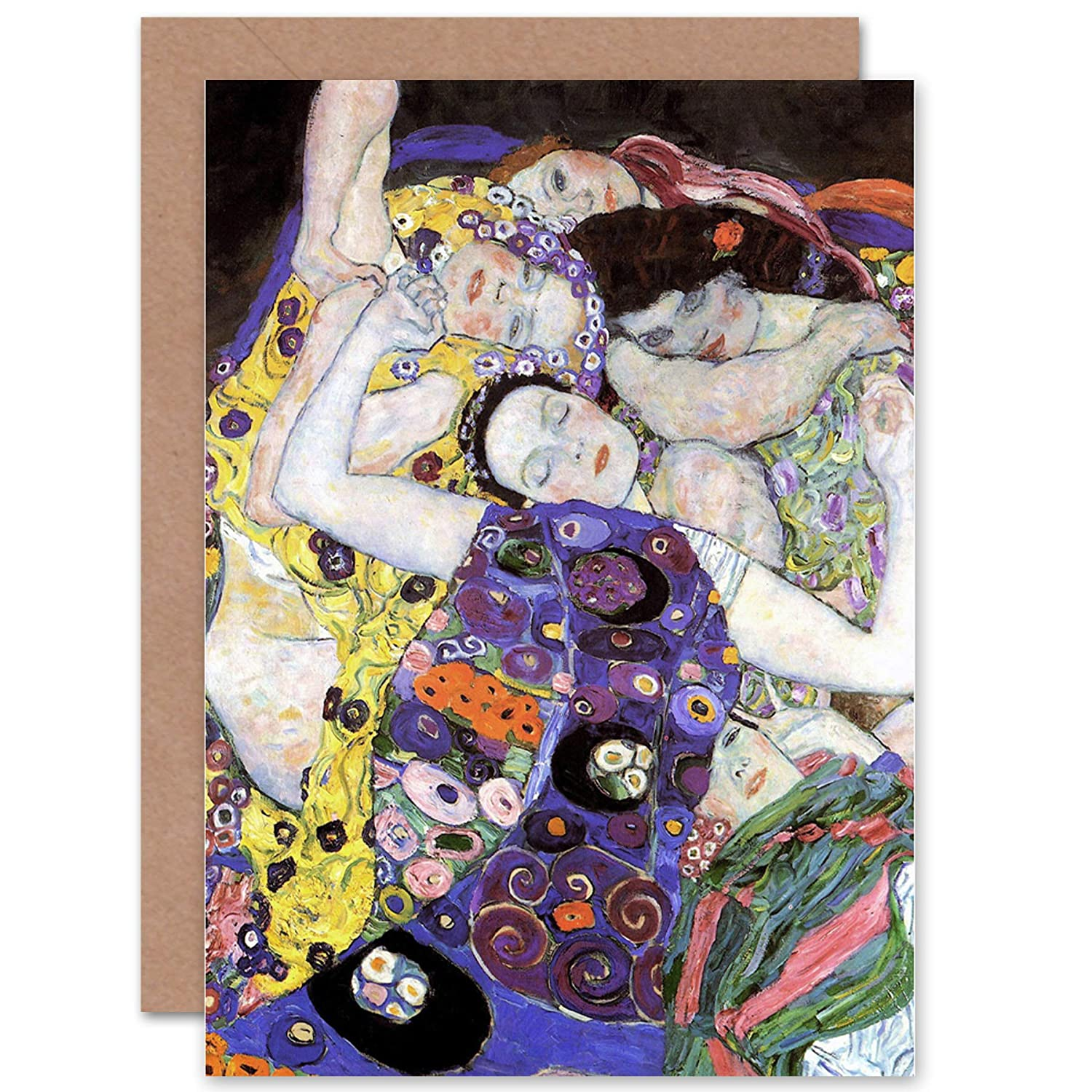 Wee Blue Coo LTD GUSTAV KLIMT PORTRAIT OF ADELE BLOCH BAUER BLANK GREETINGS CARD Ritratto Pubblicità SALUTI