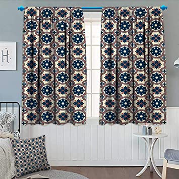amazon com floral blackout curtain ornate silhouettes pattern with rh amazon com