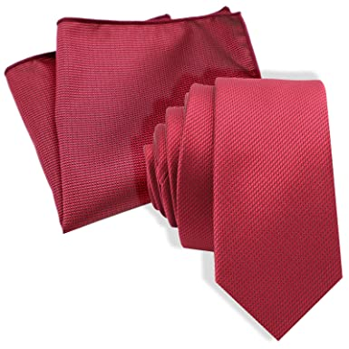 CLASSIC SKINNY THIN NECKTIE /& POCKET SQUARE HANKY WEDDING MENS MATCHING TIE SET