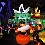 UMARDOO Halloween Inflatables Decorations,6FT Outdoor Halloween Decorations Inflatable Ghost Stake with Built-in LED Lights f