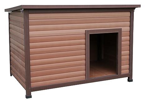 Rosewood Caseta para Perros, Resistente a la Intemperie, tejado Plano, de Madera y