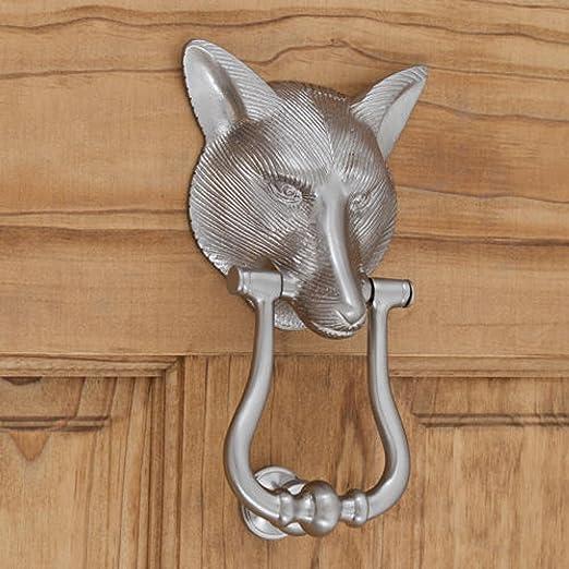 Casa Hardware Heavy-duty Brass Door Knocker in Brushed Nickel Finish