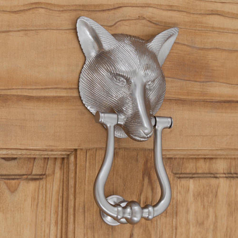 Casa Hardware Brass Fox Door Knocker in Brush Nickel Finish by SIGHW (Image #1)