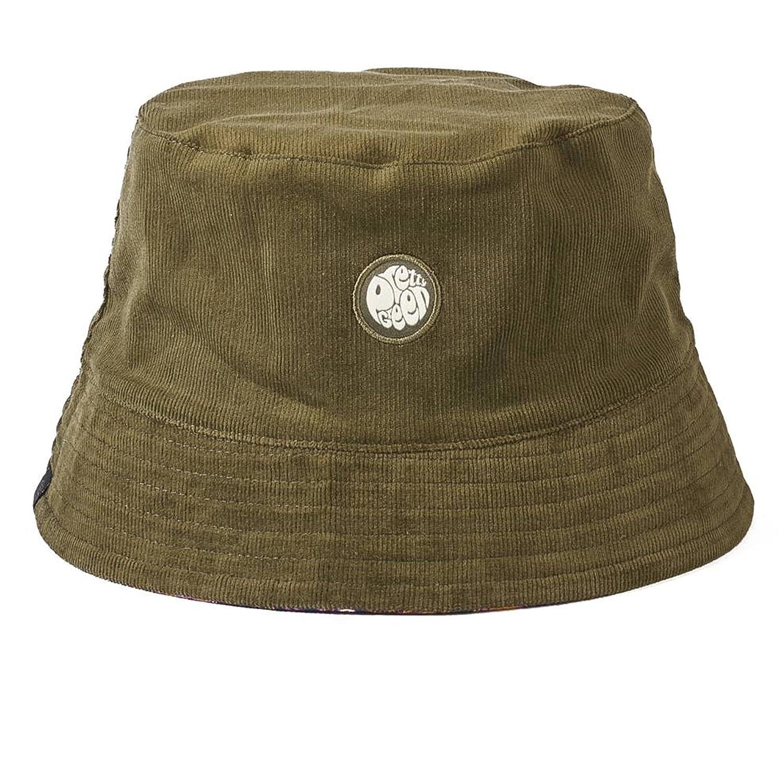 fc7fd7bd5cf Pretty Green Reversible Cord Bucket Hat Khaki Paisley M L Khaki   Amazon.co.uk  Clothing