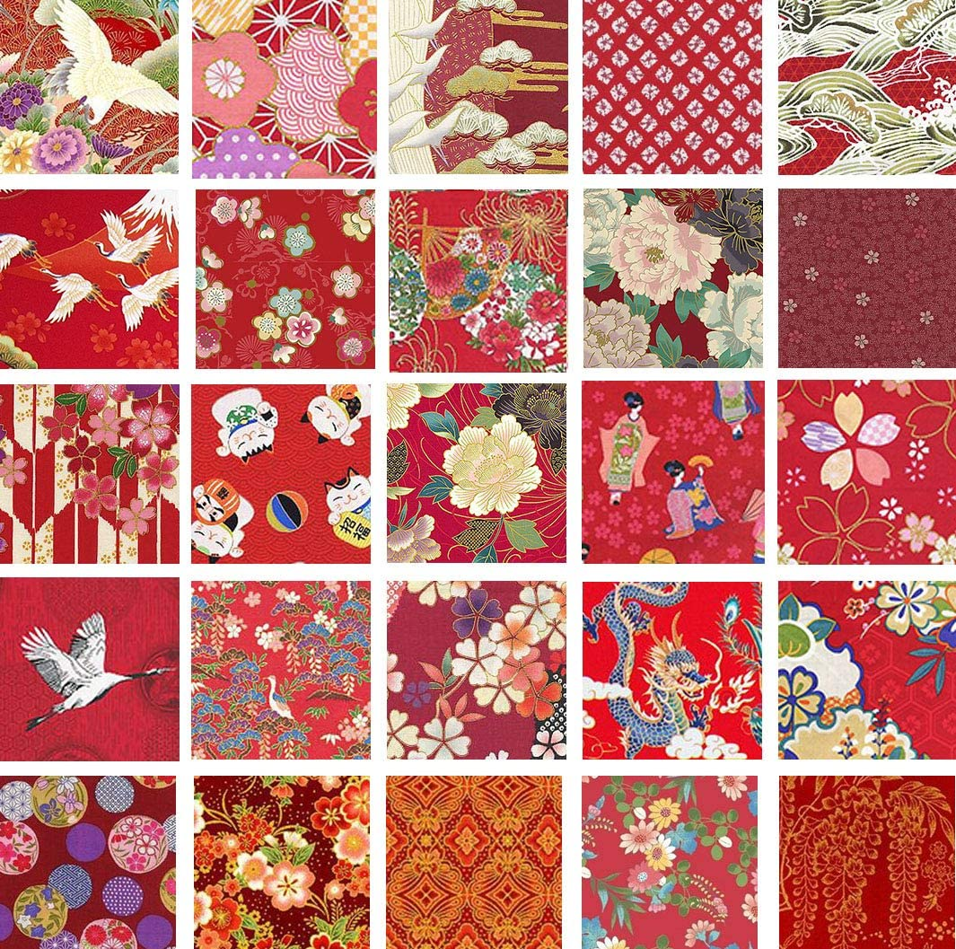 """40 5/"""" Quilting Fabric Squares Pretty Pinks and Reds// Beautiful//BUY IT NOW!!"""