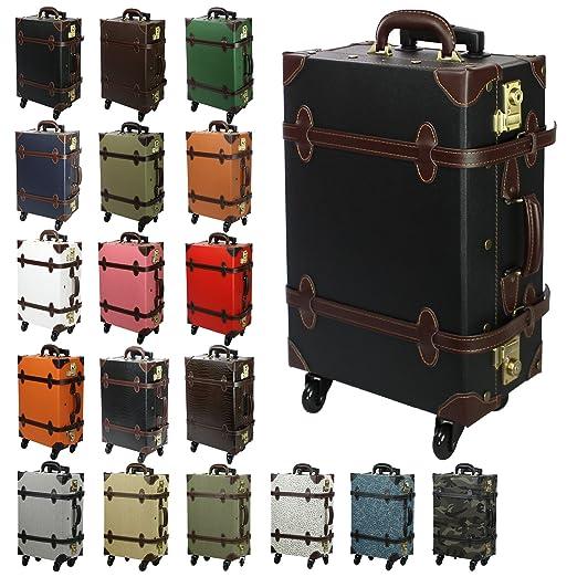 Amazon.com   MOIERG Vintage Trolley Luggage 2tone TSA   Suitcases