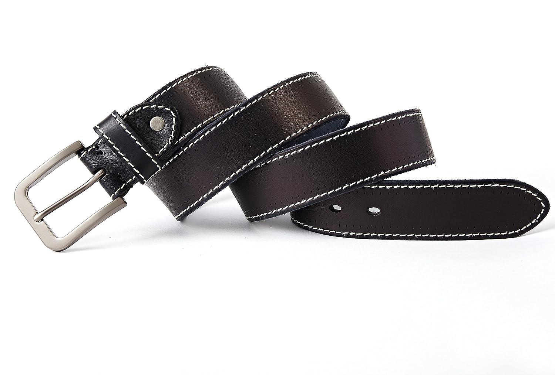 3ZHIYI Vintage Cinturón de piel de búfalo cuero 38 mm de ancho y aprox 4 mm  de grueso 17d7c6cda222