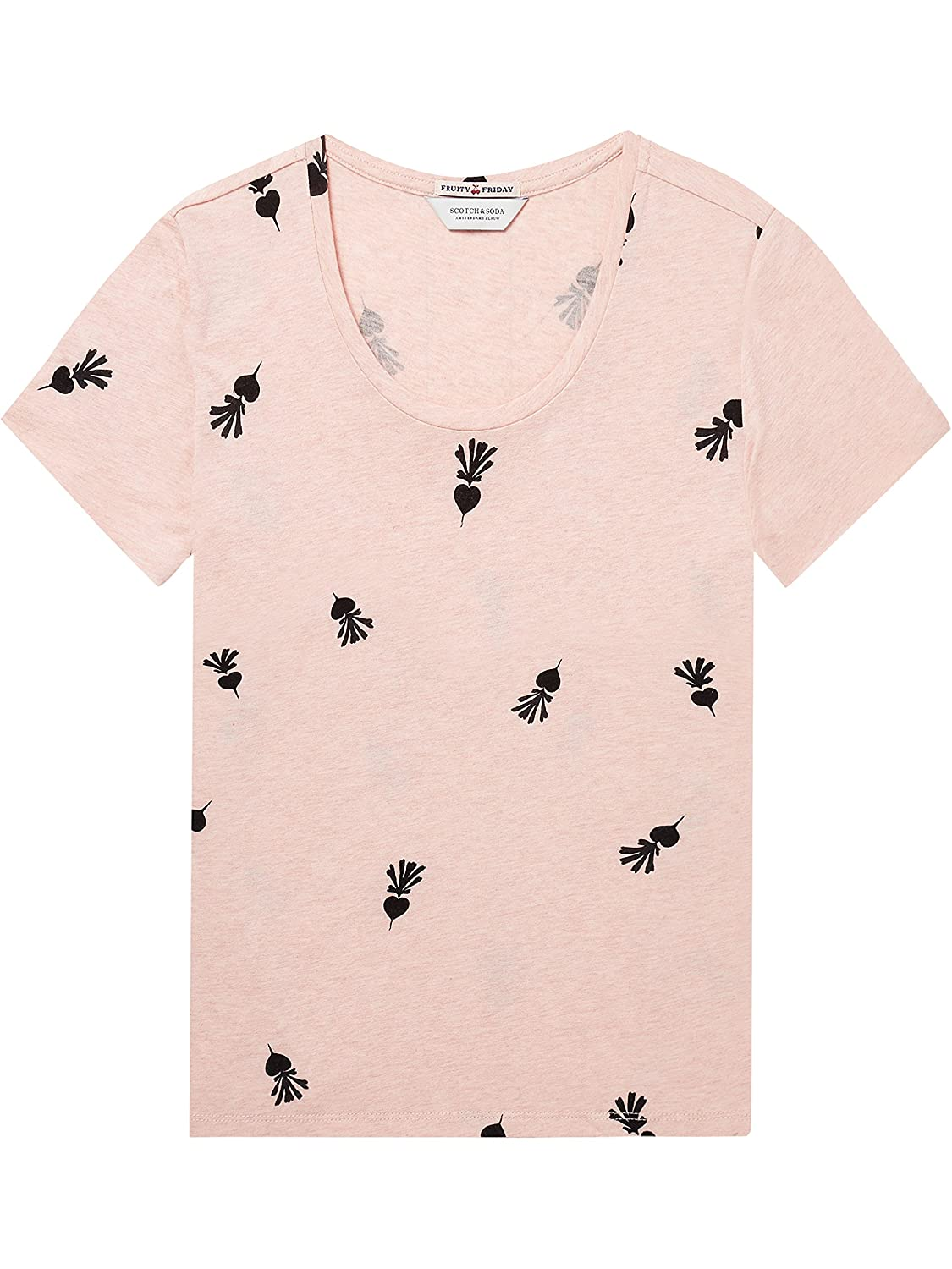 Scotch & Soda Relaxed Fit tee In Various Prints Camiseta para Mujer