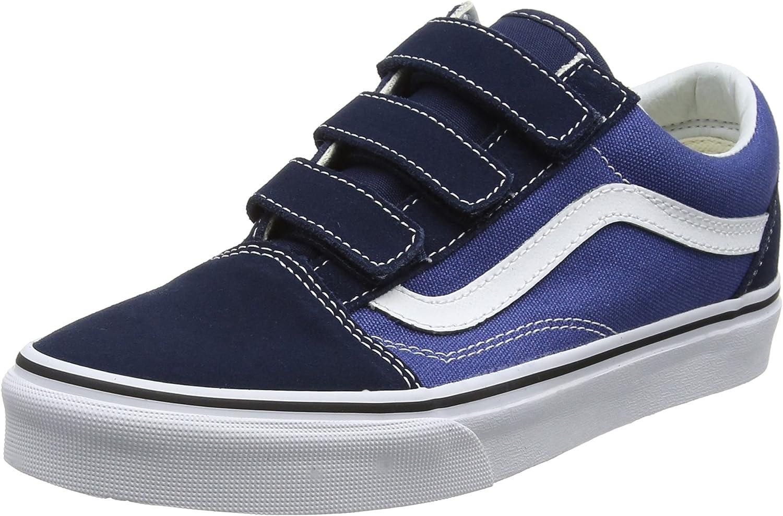 Vans Unisex Adults' Old Skool V Trainers, Blue(Dress Blues ...