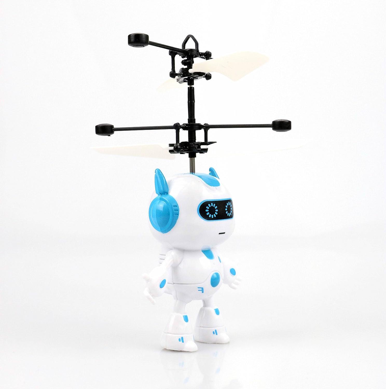 Volando Robot (Azul) - Super Held - Space Robot - Fácil controlar con la mano.El Juguete para adultos y niños.La Hitachi en Navidad 2017.