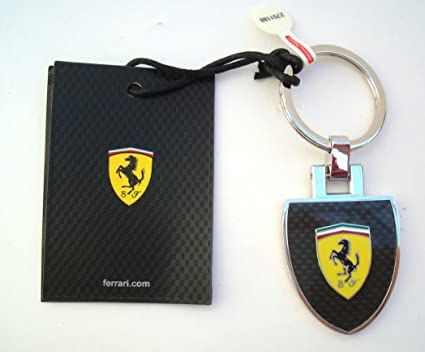 Ferrari Llavero Scudetto Escudo Carbon Look: Amazon.es ...