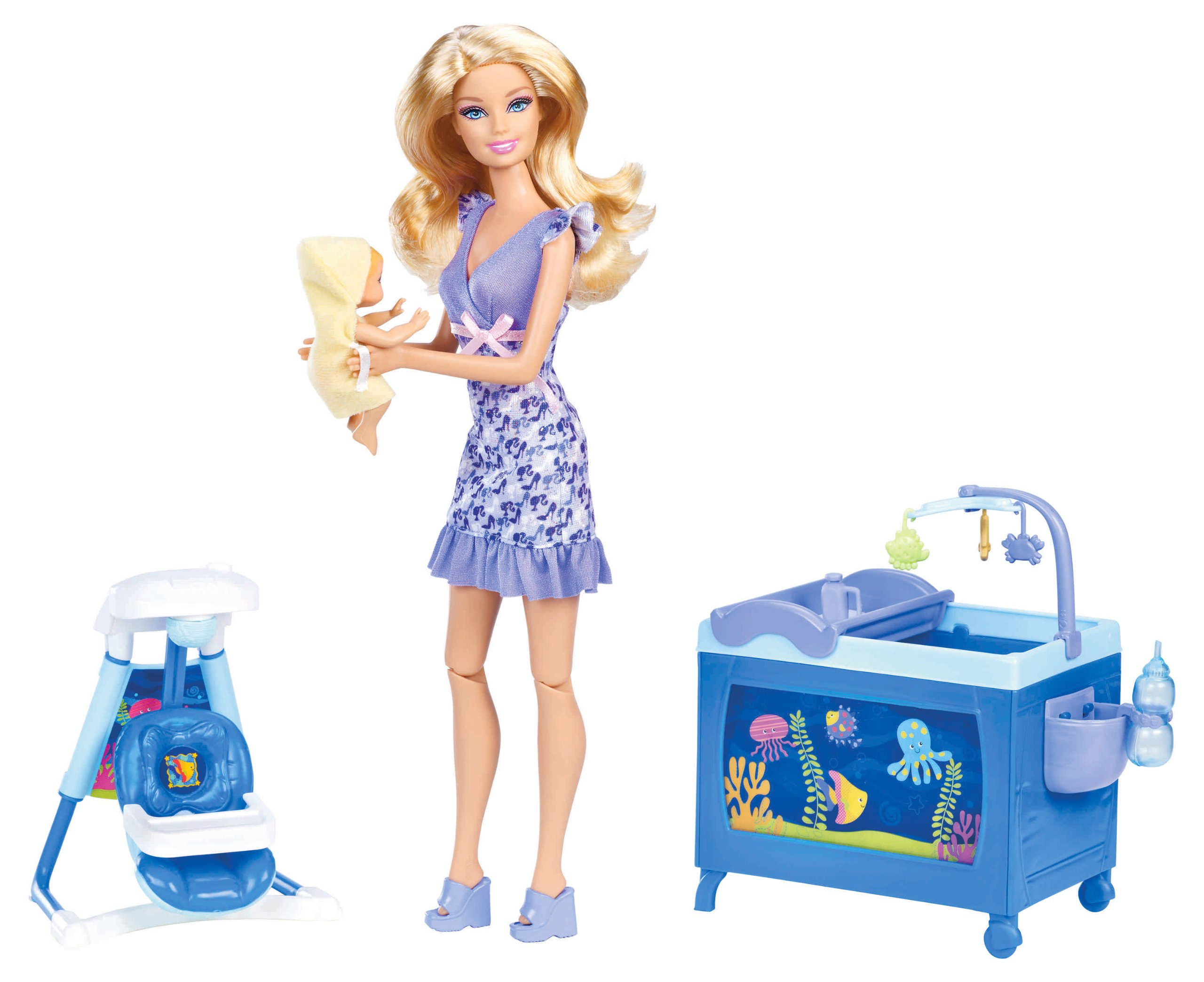 Barbie I Can Be Baby Sitter Playset