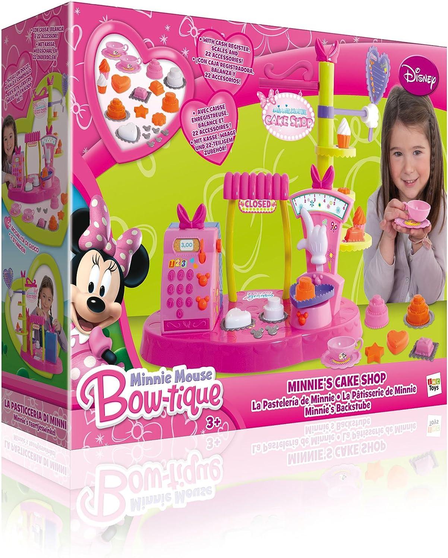 IMC Toys - Pastelería Minnie con Caja Registradora Balanza Y 20 Accs. 43-180642: Amazon.es: Juguetes y juegos