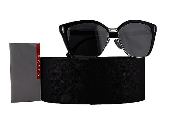 bde1033a063f Prada Authentic Sunglasses PR56TS Black Gunmetal w/Grey Mirror Black Lens  1AB5L0 SPR56T PR 56TS SPR 56T (57mm): Amazon.co.uk: Clothing