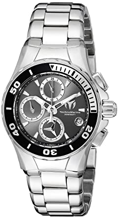 Technomarine Womens Manta Quartz Stainless Steel Casual Watch, Color:Silver-Toned