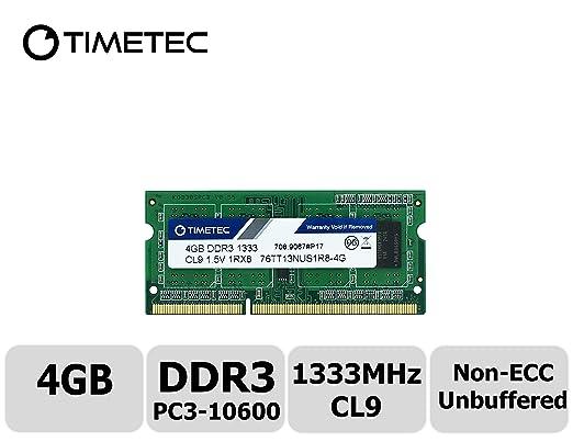 2 opinioni per Timetec Hynix IC 4GB DDR3 1333MHz PC3-10600 Unbuffered Non-ECC 1.5V CL9 2Rx8