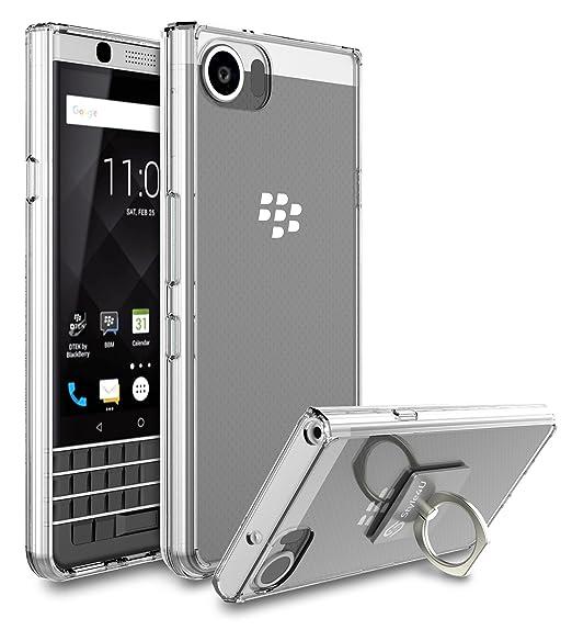 pretty nice e763c 5457b BlackBerry KEYone Case, BlackBerry DTEK70 / Mercury Case, Style4U Scratch  Resistant Shock Absorbent Ultra Slim Crystal Clear PC Back TPU Bumper ...