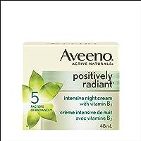 Aveeno Night Cream, Positively Radiant Intensive Brightening Face Moisturizer, 48 mL
