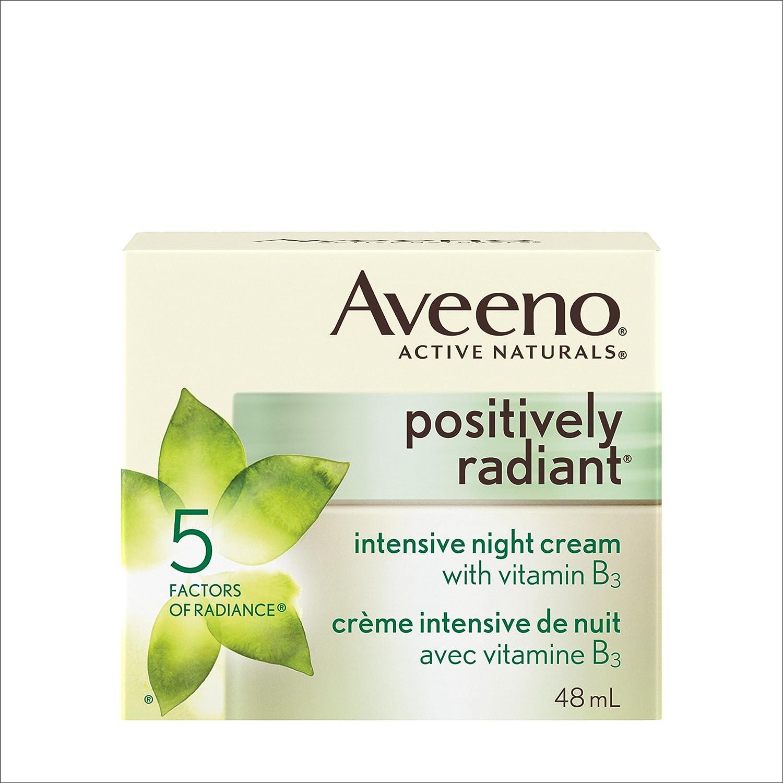 Aveeno Night Cream, Positively Radiant Intensive Brightening Face Moisturizer, 48 mL Johnson & Johnson