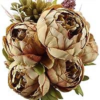 Bouquet di peonie artificiali Houda, in seta, decorazioni per la casa o per matrimoni.