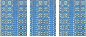 Interestlee Canvas Art Wall Decor, Moroccan Unframed Art Painting - Ancient Culture Art Designs Patchwork Style in Blue Tones with Flowers Curls 16