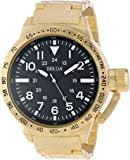 "Breda Men's 1639-gold ""Sean"" Gold-Tone Metal Oversized Bracelet Watch"