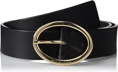 Tommy Hilfiger Oval Buckle Belt 3.5, Cinturón para Mujer, Negro