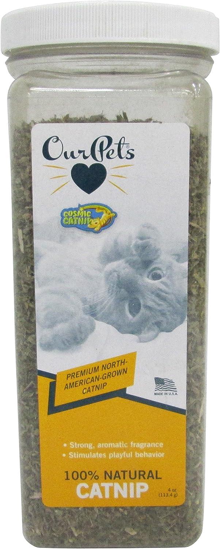 Our Pets Premium North-American Grown Catnip, 4-Ounce Jar