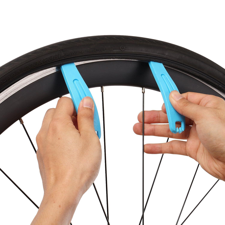 Palanca de montaje para el cambio de neum/áticos de cualquier tama/ño de llanta bicicletas de monta/ña Palanca de cambio de neum/áticos Premium de Die Werkstatt Set de 3 bicicletas de carreras