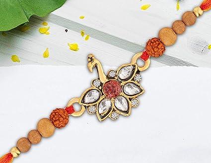 Rakhi Bracelet for Brother Bhabhi Bhaiya Rakhi for Kids Rakhi Raksha Bandhan Gift Designer Rakhi Gift Multicolor Beads Faux Rakhi Thread Handmade Traditional Rakhi
