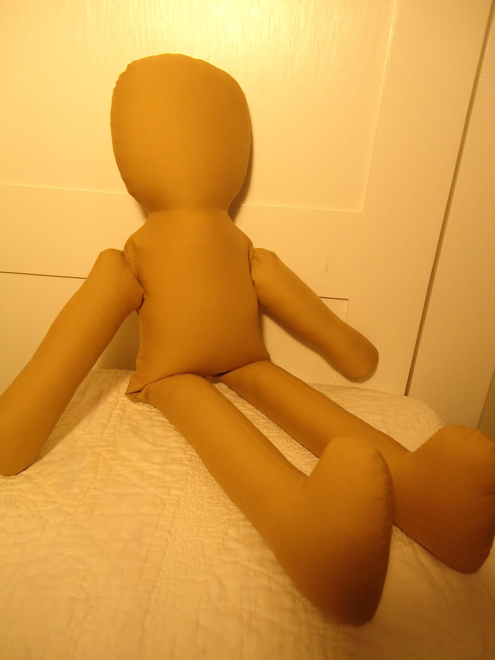 22'' Cloth Rag Doll Body Form- Craft Doll-DARK TAN Color-katiesdolls