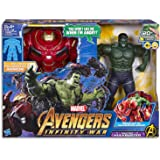 """MARVEL AVENGERS - 13.5"""" Hulk & Hulkbuster Action Figure - Infinity War Movie Inspired - Electronic Kids Dress Up Toys - Ages 4+"""