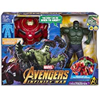"Marvel Avengers Marvel Avengers - Electronic Action Figure - 13.5"" Hulk & Hulkbuster - Infinity War - Ages 4+"