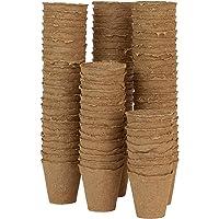 Skycabin 6CM Round Biodegradable Pots Fibre Planting Pots for Seedlings Value Pack of 100,Plant Starters,Vegetable…