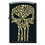Black Matte Gold Flake Punisher Skull Custom